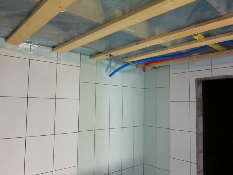 kylpyhuoneen kattorakenne